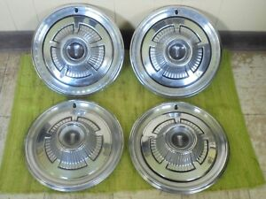 1966 Plymouth Hub Caps 14 Set Of 4 Mopar Wheel Covers 66 Hubcaps