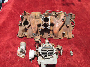1973 To 1977 Chevy Small Block Intake 2 Barrel Carb Thermostat Housing 346260