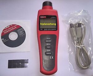 Digital Non contact Tachometer Tacho Tester 10 99 999 Rpm Usb Ut372