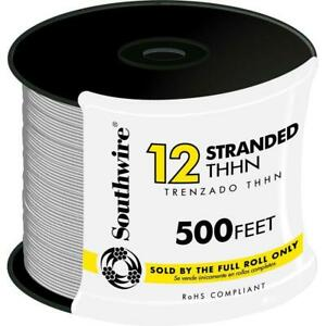500 Ft 12 White Stranded Cu Thhn Wire