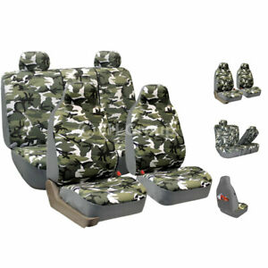 Car Seat Covers High Quality Camo Luxury Front Rear For Car Truck Suv