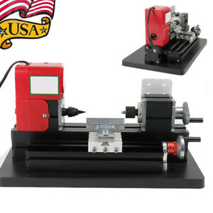 20000rpm Mini Wood Lathe Machine Home Diy Tool Crafts Drilling For 135 35mm Wood