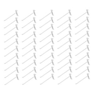50 Pieces 8 Inch Gloss White Metal Wire Gridwall Hooks Panel Display Hanger
