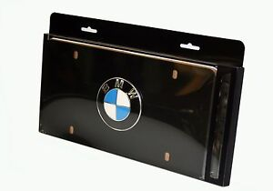Genuine Bmw Black Roundel License Plate Black 82121470313 82 12 1 470 313