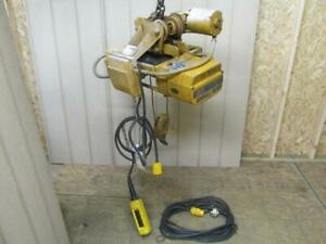 Acco Wright way 34 15 1 2 Ton Electric Cable Wire Rope Hoist W power Trolley
