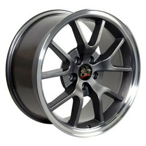 Anthracite Wheel 18x9 W Machined Lip For 1994 2004 Ford Mustang Owh0784