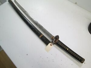 Old Japanese Samurai Sword Katana Unsigned With Scabbard Old Long Blade L15