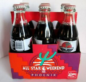 Coca Cola 6 Pack All Star Weekend Phoenix 1995 Sealed 8 oz Bottles w Carrier