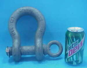 New Crosby Galvanized 12t Shackle 12 Ton 1 1 4 Screw Pin Clevis Cost 135
