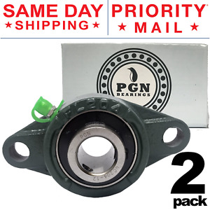 Ucfl204 12 Solid Pillow Block Flange Mounted Bearing 3 4 Bore 2 Bolt 2 Pcs