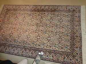 Carpet Wool And Silk Hand Knotted Naein 6 La4 3 X 6 9