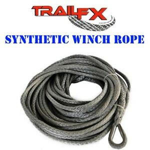 Wa022 Trail Fx Recovery Synthetic Winch Rope 10000 Lbs Capacity 9 5mm X 94 Long