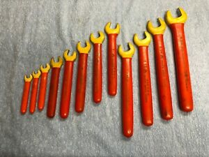 Cementex 1000v Insulated 12 Piece Open End Wrench Set 7 16 To 1 3 8