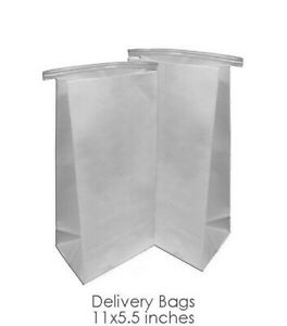 Dental Delivery Bags Heavy Duty White Paper Bags 5 5 X 11 100 Pcs