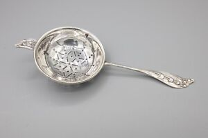 Whiting Lily Of The Valley Sterling Silver 925 Individual Tea Strainer 5 5 8