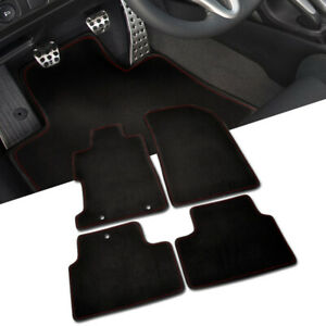 For Honda 06 10 Civic 2dr Coupe Front Rear Floor Mats Carpet W Red Stitch