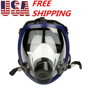 Large Lens Silicone 6800 Full Face Gas Mask Dust Painting Spraying Respirator Us