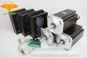 free Ship Us 3axis Nema 42 Stepper Motor 4120oz in 8a driver Cnc Router mill