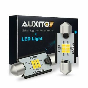 2x Auxito 578 212 2 41mm Super White Led Interior Dome Map Light Bulbs For Chevy