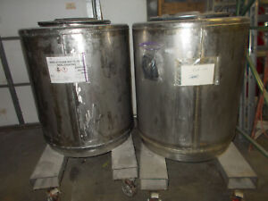 200 Gal Stainless Steel Tank Bottom Jacketed Stackable Front Dispense