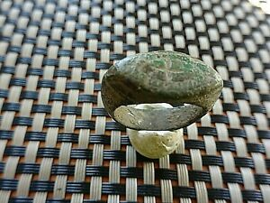 Ancient Roman Bronze Ring With Cross 3rd 5th Century Ad Very Rare