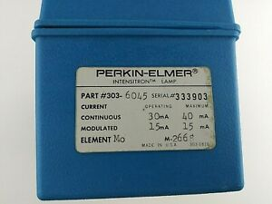 Perkin Elmer 303 6045 Molybdenum mo Intensitron Lamp For Atomic Absorption Spe