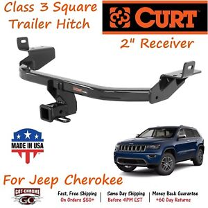 13172 Curt Class 3 Square Trailer Hitch With 2 Receiver Tube For Jeep Cherokee