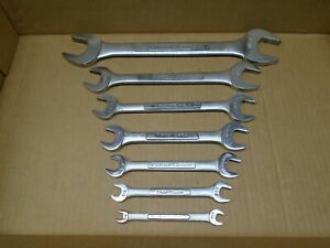 Vintage Craftsman Usa 7 pc Sae Double Open ended Wrench Set lot 1 4 1 1 8