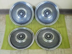 1965 Mercury Hubcaps 14 Set Of 4 Wheel Covers Merc Hub Caps 65
