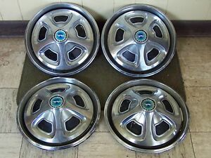 69 70 Mercury Cougar Hubcaps 14 Set Of 4 Wheel Covers 1969 1970 Hub Caps