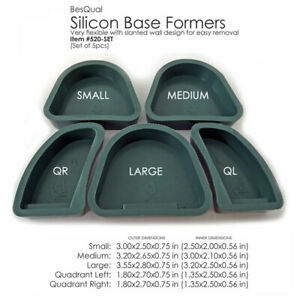 Besqual Dental Lab Silicone Plaster Model Former Base set Of 5 1 Of Each Size