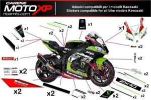 Stickers Decal Moto Compatible Zx10r 2011 2015 Sbk 2016