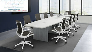 12 Foot Conference Table With Grommets And 10 Chairs Furniture Set Many Colors