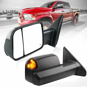 Fit 02 2007 08 Dodge Ram 1500 Power Heated Turn Signal Trailer Towing Mirrors