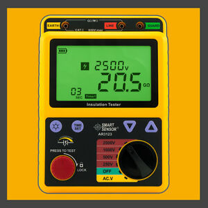 High Voltage 2 5kv Insulation Resistance Tester Meter Megger 99 9g Ohm Pi Ar3123