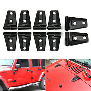 Hood Door Hinge Cover Decoration For Jeep Wrangler Jk Jku Unlimited 2007 2017