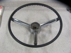 1967 67 Chevy Ii Nova Corvair Black Steering Wheel Driver Shape