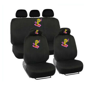 New 9pc Set Looney Tune Tweety Bird Classic Front Rear Car Truck Seat Covers