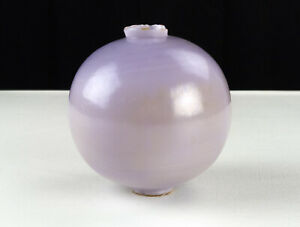 Antique Purple Milk Glass Lightning Rod Ball 5 Light Iridescent Original