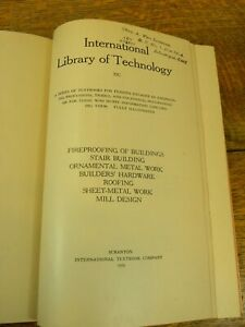 Antique International Library Of Technology 1920
