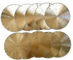 10pk 10 Electroplated Diamond Blade For Marble Engineered Stone And Travertine