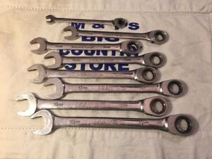 Matco Tools Usa 8 Pc Metric 12pt Ratcheting Wrench Set 8mm 13mm Thru 19mm