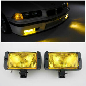 Pair Yellow Lights Fog Lamps Universal Fog Lights For Toyota Ford Honda Dodge