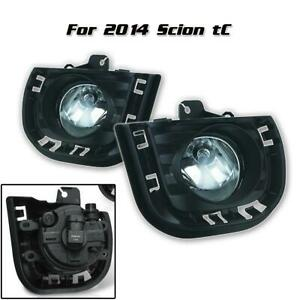 Front Clear Bumper Fog Lights Driving Lamps Pair Lh Rh For 2014 2015 Scion Tc