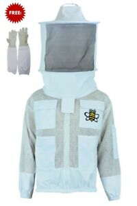 Professional Bee 3 Layer Uv Beekeeping Beekeeper Jacket Veil Gloves 3xl 204