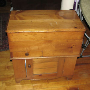 Antique Late 19th Cent Pine Lift Top Washstand