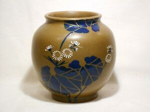 Antique Japanese Hand Thrown Pottery Vase 5 1 2 Inch Exc Cond