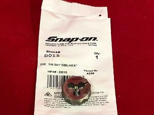 Snap On New D015 1 4 28nf National Fine Thread Die 11 30 List Price