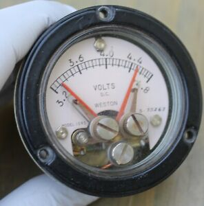 Vintage Weston Model 1093 Panel Meter Vdc W Adjustable Set Points Steampunk
