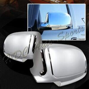 For 1999 2006 Chevy Silverado 1500 2500 3500 Chrome Abs Side Mirror Cover Cap
